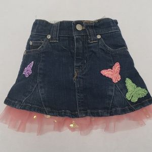 Disneystore Fairies Ruffle Jean Skirt
